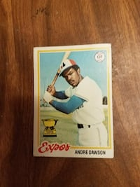 Expos Andre Dawson trading card