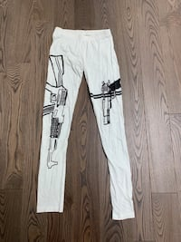 White gun leggings