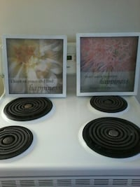 Set of glass enclosed flower prints ($7.50 each).