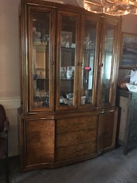 Dining Set: Hutch, Table, & 6 Chairs Burke