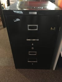 Legal size two drawer file cabinet