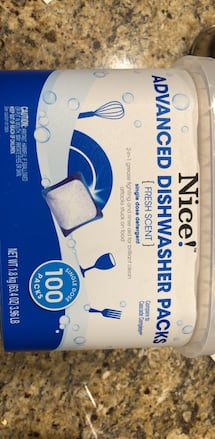 nice advanced dishwasher tabs, 100ct