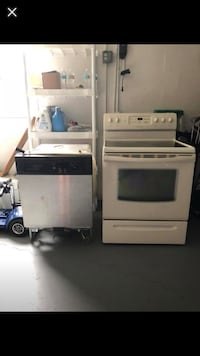 white and black induction range oven 794 mi