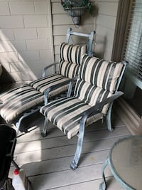 white and blue stripe padded armchair 531 mi
