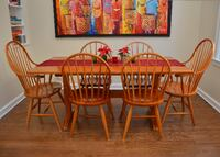 Cherry Farmhouse Dining Table and Duckloe Chairs Wilmette
