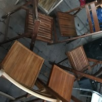 brown wooden table with chairs Laval, H7M 4N8
