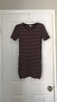 GUC Striped Shirt Dress - Blue/Coral Clarksburg, 20871