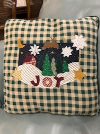 Patchwork Christmas pillow