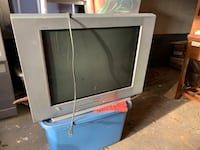 gray CRT TV with remote Union, 07083