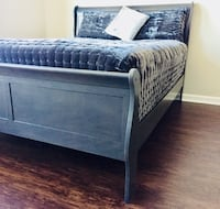 New Gray Sleigh Queen Bed  37 km
