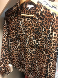 brown and black leopard print long-sleeved shirt Houston, 77007