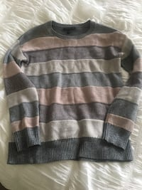 gray and black striped sweater Whitby, L1M