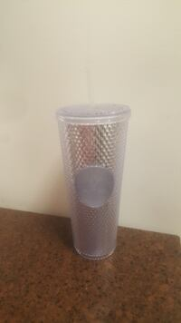 NEW LIMITED EDITION 2019 Starbucks Holiday Edition Platinum Silver Bling Tumbler Silver Spring