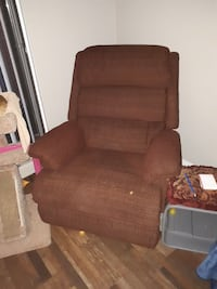 brown fabric sofa chair with ottoman Edmonton, T5Y 1A1