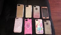 six assorted iPhone cases and two iPhone cases Stockton, 95204