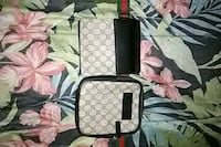 black and gray Gucci leather crossbody bag 743 km