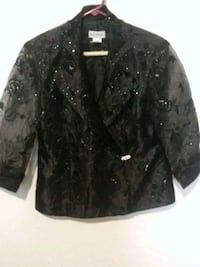 black and gray floral button-up jacket Houston, 77020