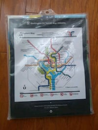 DC Metro Shower Curtain vintage