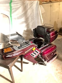 Motorbike parts, wind jammer and  saddle bags in excellent condition.