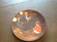 Collectible Norman Rockwell  plate Scranton