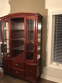 Brown wooden framed glass display cabinet Guelph, N1L 0C8