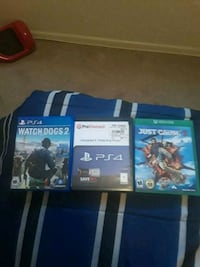 three assorted PS4 game cases
