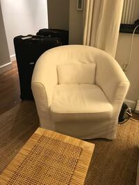 IKEA Armchair White w washable slip covers New York