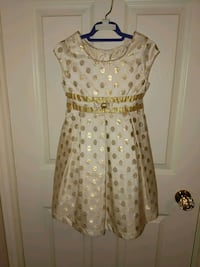 White and Gold girl dress Burlington