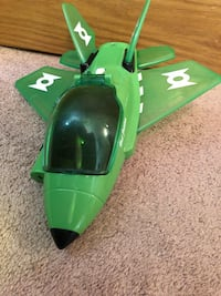 Green lantern jet plane, collectible hot wheel and light up figure Tinley Park, 60477