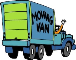 Moving services with two handymen