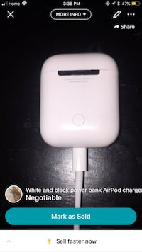 White and black AirPod charging case  Edmonton, T5W 0C1