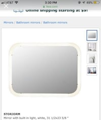 IKEA light up mirror  Sheridan, 80110