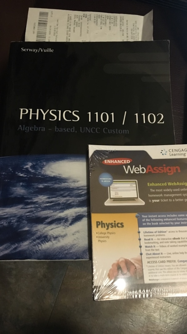 Used physics 11011102 textbook uncc w webassign access code for physics 11011102 textbook uncc w webassign access code fandeluxe Images