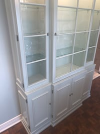 Beautiful dining room LIGHT BLUE glass cabinet- great condition!