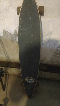 black Sector 9 pintail long board