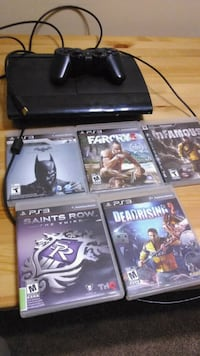 PS3 slim 500g console with controller 5 games  Edmonton, T5J 0A1