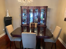 Dining Room Table and Buffet Hutch