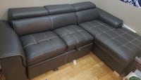 Leather sectional sofa bed with storage Mississauga, L4T 1E3