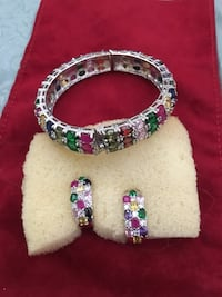 Real Colored  bracelet and earring nice