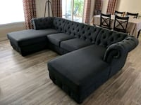Tufted Double Chaise Lounge Sofa Gilbert, 85296