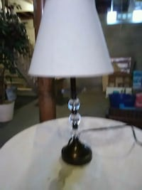 white and gray table lamp Painesville, 44077