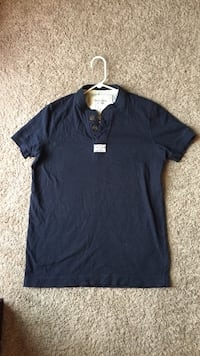 Blue Abercrombie & Fitch Muscle Polo Large  Roanoke, 24018