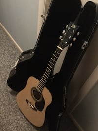 Acoustic guitar and case