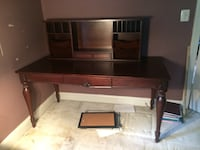 Wood desk  5ft x 30in x 30in hi Chantilly, 20151