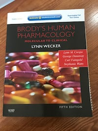 Brody's human pharmacology textbook Mississauga, L5W 1H2