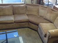 brown suede sectional couch with ottoman Rockville, 20850
