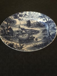 Oval serving platter 'hayride' Surrey, V4N