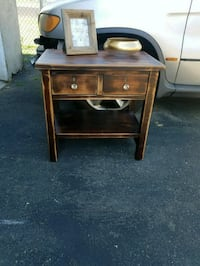 Side distressed wood table Linden, 07036