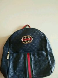 black and red Gucci backpack