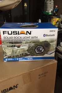 Solar rock light with Bluetooth speaker